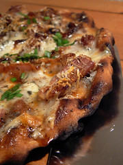 rib pizza cooked on the grill
