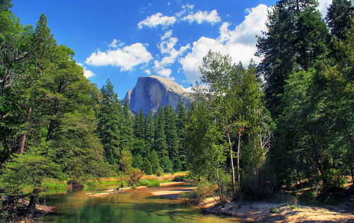 Half Dome as seen from Sentinel Bridge