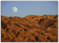 Moon Over Death Valley