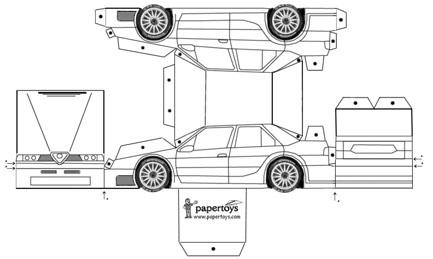 Dibujos de carros para recortar y armar - Imagui
