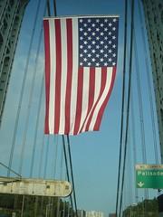 American Flag @ George Washington Bridge (yehwan) Tags: flag nj american georgewashingtonbridge
