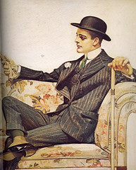 J.C. Leyendecker - Arrow Collars Ad: Sofa Part 1 (Mamluke) Tags: old flowers portrait flower male fleur hat cane illustration fleurs vintage alt retrato stripes flor ad tie blumen advertisement couch suit sofa gloves chapeau jc mann arrow 1912 carnation collar blume portret fiore gaze viejo glance ritratto publicité dressy oud hombre longing cru illustratie vieux homme vecchio ilustración pinstripes leyendecker flors vendimia collars illustrazione 男性 annata uralt abbildung mamluke fiores reklameanzeige jcleyendecker wijnoogst arrowcollars