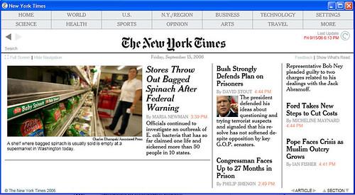 TimesReader screenshot.