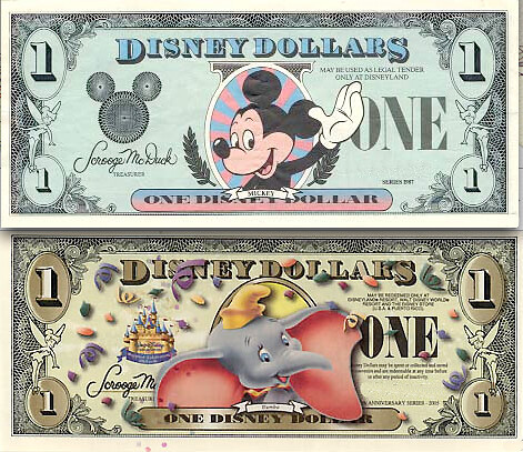 Disney Dollars – then and now by idogcow.
