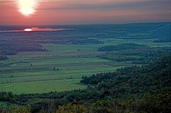 Ottawa Valley sunset (aylmerqc) Tags: sunset canada landscape geotagged quebec gatineaupark ottawariver outaouais champlainlookout utataview geolat45508302 geolon75913339