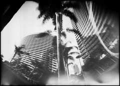 025 ([ CK ]) Tags: bw architecture blackwhite sandiego cityscapes pinhole papernegative marriot seaportvillage 5x7 can2 homemadecamera marriothotel ilfordpaper 090106 3minuteexposure lavazzaespressocan thetimesareachanging makingpictureswithcamerasthatlooklikebombs