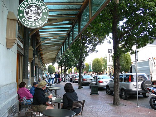 Two Starbucks in Victoria