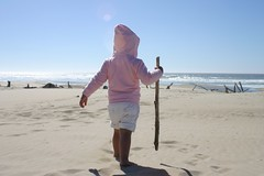 Lil Miss Independent (jc_iverson (Imagery by Jordan)) Tags: pink cute beach canon coast walkingstick babyk missindependent canonefs1855mmf3556