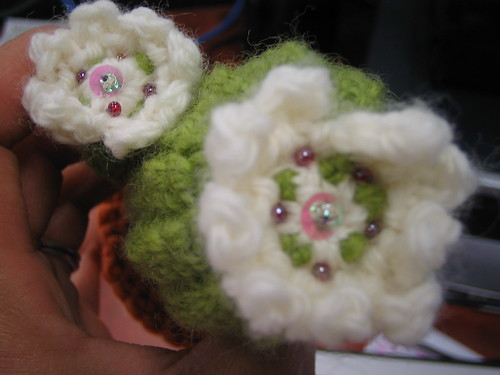 Crocheted Cactus; beautiful flowers
