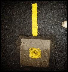 ! (kiplingflu) Tags: street black water yellow topv111 shoe paint grafitti belgium belgië favme gas fv10 roeselare asfalt intrestingness