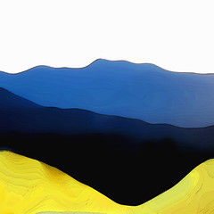 Sulphur (lawroberts) Tags: blue mountain canada silhouette yellow vancouver 1025fav photoshop landscape hill columbia minimal sulphur british reduce reductive