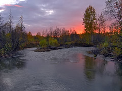 Good Night (jack4pics) Tags: sunset alaska river matsu naturescenes littlesu lovephotography