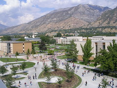 BYU Campus From Above - Utah (Spaz Du Zoo) Tags: mountain campus utah fromabove provo byu brighamyounguniversity