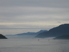 Foggy Harbour from Port McNeill (Mike Bingley) Tags: atmosphere vancouverisland portmcneill