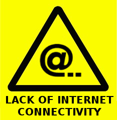 Lack of Internet connectivity