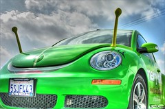 my favorite martian (Kris Kros) Tags: favorite green love vw bug germany volkswagen photography high dynamic space alien german luv kris outer et range hdr antenna martian kkg 50v5f photomatix kros kriskros 5xp kk2k abigfave kkgallery