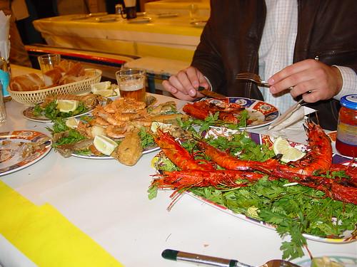 Comida en hoteles de playa en Marruecos
