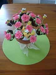Mini Cupcake Rose Bouquet (cupcaketastic) Tags: flower cooking garden cupcakes baking chocolate australia melbourne mini victoria goods badge vanilla baked buttercream badged cupcaketastic