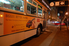 Hayes (skew-t) Tags: sanfrancisco longexposure bus night downtown muni transit marketstreet