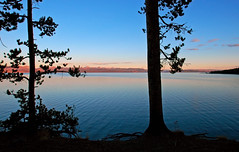Yellowstone Lake Silhouettes (Fort Photo) Tags: sunset nature silhouette landscape nationalpark nikon pacific northwest d70 nps 2006 pacificnorthwest yellowstonenationalpark yellowstone pnw yellowstonelake outstandingshots specland
