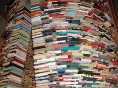 Pile of Books in Prague Library