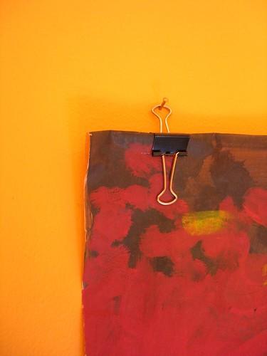 Binder clip poster hanging