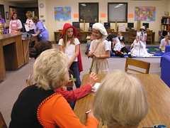 Judges Ask Grandmother to Walk for Them (Old Shoe Woman) Tags: school costumes students reading books bookcharacters redribbonweek readathon yearbook2006 drugawareness