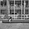 Melbourne #04 (Peter.Bartlett) Tags: bag noiretblanc woman olympusomdem5 unitedkingdom bench australia wall facade urbanarte victoria urban uk streetphotography square peterbartlett reflection girl people candid coffeecup m43 microfourthirds monochrome bw lunaphoto macphuntonality blackandwhite architecture cardboardcup