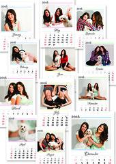 Family Calendar (magdorkadesign) Tags: people calendar family love cute months dog girls gift present mywork graphics designer design christmas easter birthday sisters