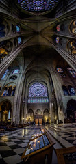 Heavens Above (@richlewis) Tags: fujifilmxt1 samyang12mmf20ncscs paris france notredamedeparis notredamecathedral tower stainedglasswindows wideangle architecture gothic panorama vertorama stitched lightroom travel