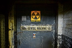 Nuclear Hibernation (Mike.Geiger.ca (Myke)) Tags: coldwar door falloutshelter glasnost jadosewingmachinecompany newyorkcity nuclear nyc nynymcat queens radiation radioactive sign newyork usa