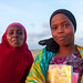 Portrait of somal girls with a school books, Awdal region, Zeila, Somaliland