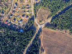 Crossroad (free3yourmind) Tags: crossroad forest country village field minsk belarus xiaomi mi drone quadcopter houses land