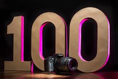 One Hundred 100/365 (stevemolder) Tags: 100 canon 365 challenge strobist gel magenta prurple off camera flash speedlite westcott