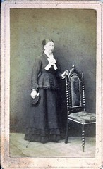 Lady In Rodby, Denmark. (ilgunmkr - Mourning The Loss Of My Wife Of 52 Year) Tags: cdv denmark danish sheffieldillinois 19thcentury victorian victorianlady rodby scandinavian christianmollerphotographer cartedevisite