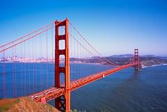 San Francisco Bay Vista from Marin Headlands (Raphe Evanoff) Tags: provia sea bridge gate golden goldengate bay skyline san francisco film california urban landscape