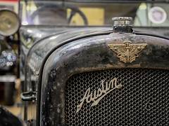 Austin Seven - British Motor Museum (phil_king) Tags: car automobile austin seven chummy british motor museum warwickshire midlands england uk classic display preserved vintage bonnet grille badge logo