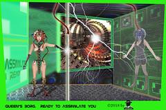 FRACTAL QUEEN'S BORG... (ADRIANO ART FOR PASSION) Tags: borg cubo regina queen assimilazione assimilare photoshop fantasy fantascienza fotomontaggio photomontage adrianoartforpassion adriano viaggio viaggionellafantasia verde fractal photoshopcreativo