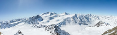 Panorama at hintere Brunnenkogel (3440m) (schwanhals) Tags: austria österreich mountains berge alpen alps glacier gletscher tirol tyrol ski snow ice panorama explore sony alpha 5000 pitztal pitztaler ngc brunnenkogel wildspitz ötztaler winter top peak summit high schnee sonne sky landscape