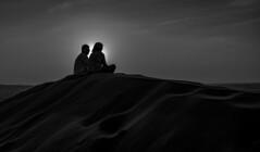 Sunset in the desert / Закат в пустыне /explore/2018/04/22 (dmilokt) Tags: чб bw закат рассвет восход sunrise sunset пустыня desert солнце sun dmilokt black white