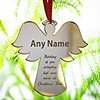 #7: Personalised Christmas Bauble Ornament Engraved Gift Bauble for Christmas - Xmas Tree Decoration Angel Shape (ebayastore.com) Tags: amazoncouk bestsellers home garden store kitchen accessories seasonal décor christmas tree decorations baubles
