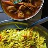 Abends in Srilanka (bornschein) Tags: mangare tisch restaurant kokosflocken fladen linsen curry chicken noodles foodporn food essen badenwürttemberg rosenbergplatz stuttgart srilanka bamboo