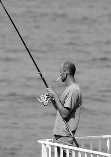 Smoke fisherman