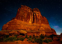 Courthouse Towers Arches National Park Utah (Daveyal_photostream) Tags: corthousetower utah moab meandmygear mygearandme mycamerabag nikon nikor nature mountains longexposure stars milkyway d850 amazing travel vacation photoouting archesnationalpark light room photoshop stargazers