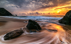 Reflux (marcolemos71) Tags: seascape sea atlanticocean portuguesecoast rocks sand sky clouds sunset reflux slowshutter beach adraga sintra leefilters marcolemos
