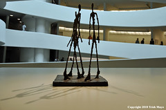 Men Walking (Trish Mayo) Tags: art sculpture albertogiacometti giacometti museum guggenheim noncolursincolour architecture franklloydwright