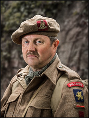 Portrait of a Soldier - Wiltshire Regiment (trevager) Tags: 1940s army brightpixphotography copyrighttrevorager dday military nostalgia soldier southwick southwickrevival2018 village vintage war