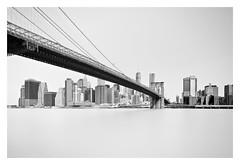 A Bridge Too Far (bprice0715) Tags: canon canoneos5dmarkiii canon5dmarkiii architecture architecturephotography blackandwhite blackwhite bw monochrome mono fineart highkey longexposure leefilters leebigstopper brooklynbridge brooklyn nyc newyorkcity city cityscape bridge manhattan ny