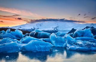Iceland Glacier & Sunset
