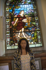 DSC_4063 John Wesley Chapel City Road London Now the Parable is this: The Seed is the word of God * St Luke 8:11 Stained Glass Window with Alesha Jamaican Dreadlocks Portrait (photographer695) Tags: john wesley chapel city road london alesha now parable is this the seed word god st luke 811 stained glass window with jamaican dreadlocks portrait